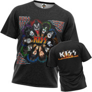Camiseta Kiss Paul Gene Ace Peter Digital Masculino Other P