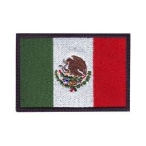 Bandera De Mexico, Parche Bordado, Varios Tamaños