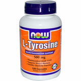 Now L-tyrosine Aminoácidos 500 Mg 120 Cápsulas