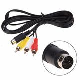 Cable A/v 3 Rca A Conector De 9 Pines, Para Sega Génesis 2y3