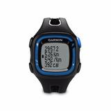 Relógio Monitor Cardiaco Garmin Gps Forerunner 15 Preto Azul