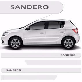 Friso Lateral Renault Sandero 2007 A 2016 Branco Neige *