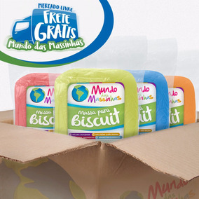 Caixa De Massa Biscuit Colorida Mundo Das Massinhas 12kg