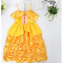 Vestido Fantasia Princesa A Bela E A Fera Carnaval Festa