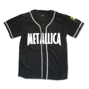 Metallica Baseball Jersey 81 Pushead Camisa Playera Beisbal