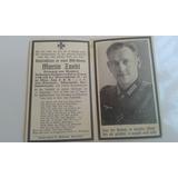 Cartão Falecimento Soldado Alemão Ww2 Martín Zankl