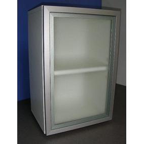 Alacena Con Puerta De Aluminio Y Vidrio Esmerilado 40x60 Cm