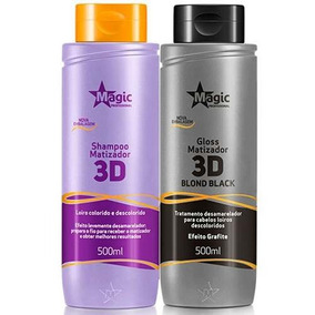 Shampoo Magic Color 500ml + Máscara 3d Blond Black 500ml