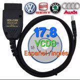 Vagcom 17.8 Vcds Españo/ingles Hex+can Obdii Vw Seat Audi