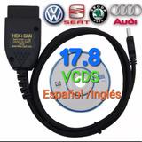 Vagcom 17.8 Vcds Españo/ingles Hex+can Obdii Vw Seat Audi