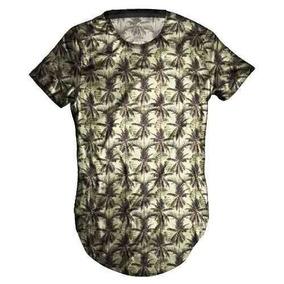 Camisa Camiseta Masculina Longline Over Coqueiros Vintag Top ae43de8065b6e