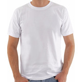 Camiseta Lisa Branca 100% Poliester Queima De Estoque