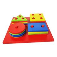 Brinquedo Educativo Pedagógico Montessori Formas Geométricas