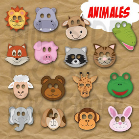Mascara Antifaz De Animales Conejo Oso Mapache Leon Jirafa