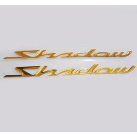 2 Adesivos Moto Custom Resinado Honda Shadow 21x1,5cm Tanque