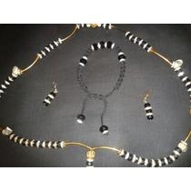 Collar De La Santa Muerte Baño De Oro 18k