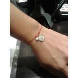 Pulsera San Benito Y Otras Imágenes Dama Hilo Chino Rojo