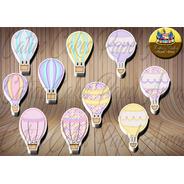 50 Tags Toppers Festa Aniversário Balão Balões