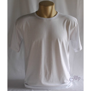 Camiseta Branca Lisa 100% Algodão Fio 30