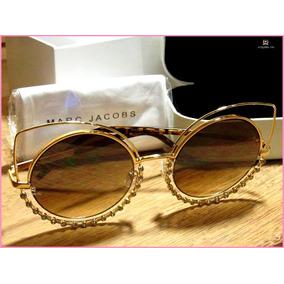 72c2aed3f0db7 Óculos De Sol Marc Jacobs Fino Acabamento Em Pedraria °4263°