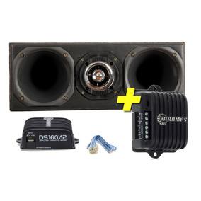 Kit Corneteira 2 Driver 1 Tweeter + Amplificador Taramps