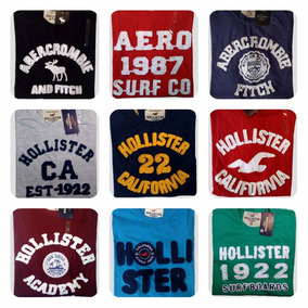 Kit 15 Camisetas Hollister Abercrombie Atacado