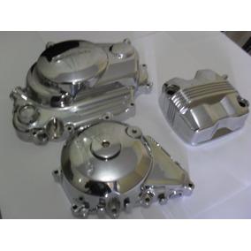 Tampas Motor Honda 150 Titan Fan Start Cromado