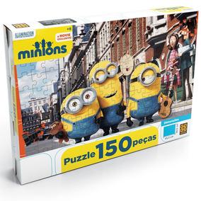 Novo Quebra Cabeça Puzzle Infantil 150 Peças Minions Grow