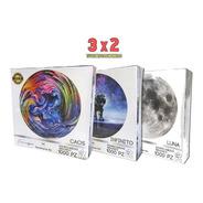 3x2 Rompecabezas Redondo Luna 1000pz 67.5cm 2mm Original