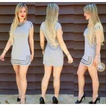 Vestido Pedraria = Manga Curta - Tamanho P Ao Gg
