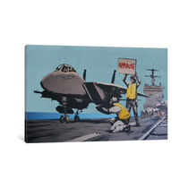 Pintura Arte Applause Jet Aircraft Carrier By Banksy, 40x26