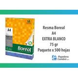 Resma A4 Boreal 75gr Papel Extra Blanco Envío Gratis X 20