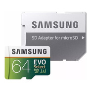 Memoria Samsung Evo 64 Gb Micro Sd U3 Original Msi