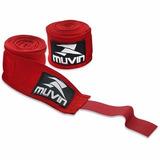 Bandagem Atadura Elastica Muay Thai Ou Boxe Muvin Vermelha