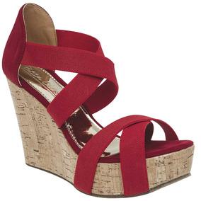 Sandalias Para Dama Been Class Rojo 66199 100% Originales