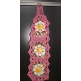 Lindo Porta Papel Higiênico Artesanal De Crochê De Flores