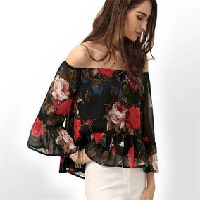 Blusa Floral Boho Moda 2017 Otoño Invierno