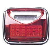 Luz De Advertencia 8x6 Rojo C/luz Trabajo Claro Xlte1755r