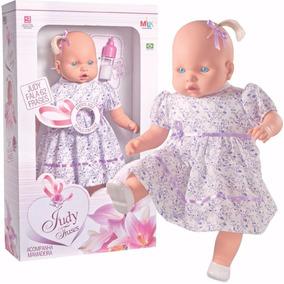 Boneca Judy 62 Frases, Fala, Grande, Pano, Menina Brinquedos