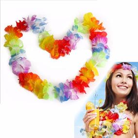 12 Collar Hawaiano Fiesta Carnaval Colores Batucada Luz