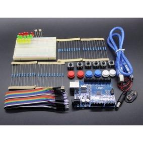 Kit Arduino Uno R3+modulo Relogio+fonte+placa 400p+jump.brin
