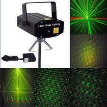Mini Laser Audio Ritmico Efecto Lluvia Estrellas Verde Rojo