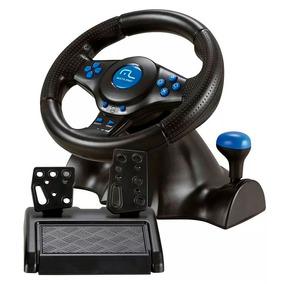 Volante Multilaser Js073 Joystick Pedal 3 Em 1 Ps3 Ps2 Pc