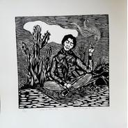 Xilogravura Assinada Maria Bonita - Jefferson Campos
