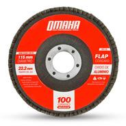 Disco Flap 115 Mm Oxido De Aluminio Grano 100 Omaha Dfa45100