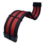 Kit 4 Cabos Sleeve Extensor Premium Tcl Preto E Vermelho