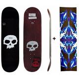 Shape Skate Em Maple Zero Importado + Lixa Gringa Estampada
