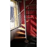 Escaleras Caracol Hierros Con Escalones De Madera.pino