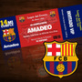 Pack 12 Invitaciones Personalizadas Fútbol / Barcelona
