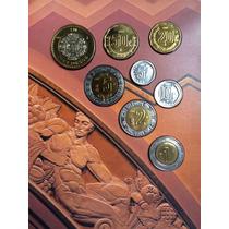 Set 8 Monedas Bu 2002 México 5 Ctvs Edificio Banco De México